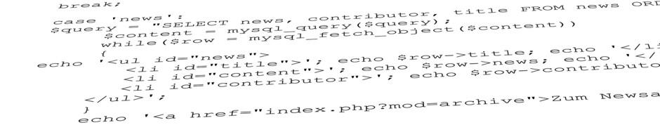 Programmierung Lingen Emsland PHP Javascript ASP.Net